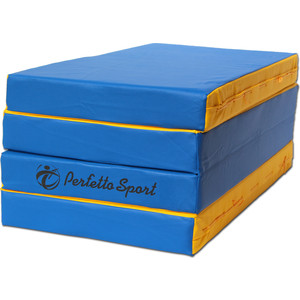 Мат PERFETTO SPORT № 5 (100 х 200 х 10) складной 3 сложения сине/жёлтый