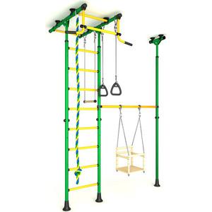 Детский спортивный комплекс Romana 31 ДСКМ-3-8.06.Т.490.01-61 зелёно/жёлтый мягкие кресла romana пуфик макака