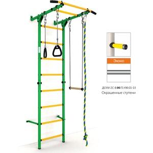 Детский спортивный комплекс Romana Карусель S1 ДСКМ-2С-8.00.Г3.490.01-13 зелёно/жёлтый (эконом)