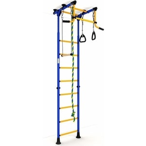 Детский спортивный комплекс Romana ДСКМ ''Комета-2'' ЭКОНОМ (ДСКМ-2-8.00.Г.490.01-11) сине/жёлтый
