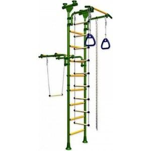 Детский спортивный комплекс Romana Олимпиец-1 ДСКМ-2-8.06.Т1.490.01-22 обливные зелёно/жёлтый