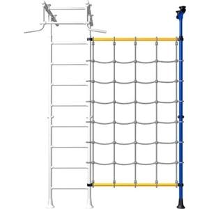Детский спортивный комплекс Romana ДСКМ-1-8.02-45 Комплект с канатным лазом распорный жёлтый (дополнительная секция)