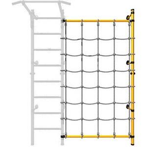 Детский спортивный комплекс Romana ДСКМ-1С-8.02-45 Комплект с канатным лазом пристенный жёлтый (дополнительная секция) карусель дополнительная стойка с канатным лазом пристенная