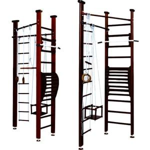 Детский спортивный комплекс Карусель 3Д.01.01 (с тренажером для осанки №2) Венге плитка для кухни 3д