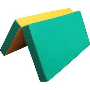 Мат КМС № 3 (100 х 100 х 10) складной зелёно/жёлтый