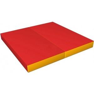 Мат КМС № 3 (100 х 100 х 10) складной красно/жёлтый мат кмс номер 4 100 х 150 х 10 складной сине жёлтый