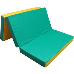 Мат КМС № 4 (100 х 150 х 10) складной зелёно/жёлтый мат кмс номер 4 100 х 150 х 10 складной сине жёлтый