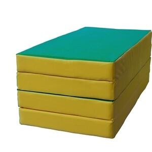 Мат КМС № 5 (100 х 200 х 10) складной 3 сложения зелёно/жёлтый (1963) мат кмс номер 4 100 х 150 х 10 складной сине жёлтый