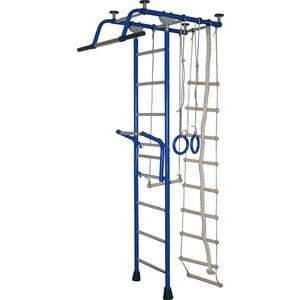 Детский спортивный комплекс Крепыш плюс Т с навесным турником синий (0843) шведские стенки крепыш плюс т с навесным турником детский спортивный комплекс пвх
