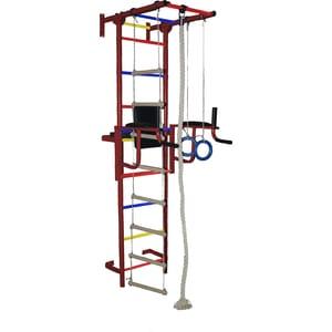 Детский спортивный комплекс Крепыш плюс пристенный с брусьями бордовый (1141) крепыш г бордовый с пвх покрытием