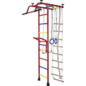 Детский спортивный комплекс Крепыш плюс Т с навесным турником бордовый