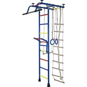 Детский спортивный комплекс Крепыш плюс Т с навесным турником синий (0787)