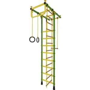 Детский спортивный комплекс Лидер Т-02 зелёно/жёлтый (2505) детский спортивный комплекс лидер п 02 зелёно жёлтый