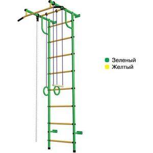 Детский спортивный комплекс Пионер С2Н зелёно/желтый