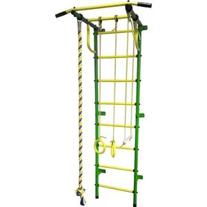 Детский спортивный комплекс Пионер С2Р зелёно/жёлтый детский спортивный комплекс пионер с3лм зелёно жёлтый
