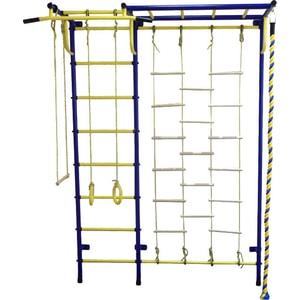 Детский спортивный комплекс Пионер С4Л сине/жёлтый euroclean flsm as20 фильтр складчатый многоразовый моющийся для пылесосов felisatti as20 1200