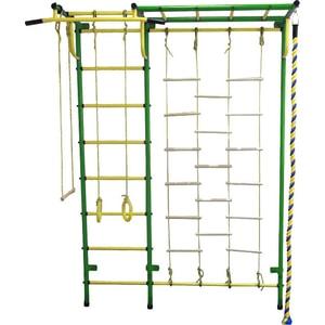 Детский спортивный комплекс Пионер С4ЛМ зелёно/жёлтый дск пионер с4см зелёно жёлтый