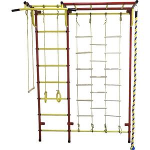 Детский спортивный комплекс Пионер С4ЛМ красно/жёлтый детский спортивный комплекс пионер 8м красно жёлтый