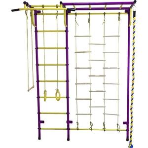 Детский спортивный комплекс Пионер С4ЛМ пурпурно/жёлтый детский спортивный комплекс пионер с4с пурпурно жёлтый