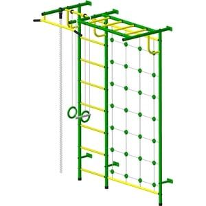 Детский спортивный комплекс Пионер С4СМ зелёно/жёлтый дск пионер с4см зелёно жёлтый