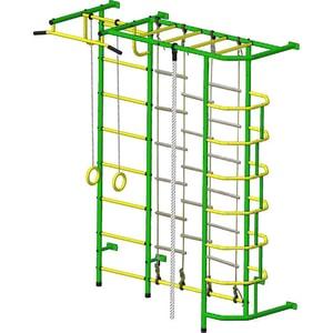 Детский спортивный комплекс Пионер С5ЛМ зелёно/жёлтый детский спортивный комплекс пионер с3лм зелёно жёлтый