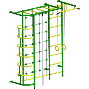 Детский спортивный комплекс Пионер С5СМ зелёно/жёлтый дск пионер с4см зелёно жёлтый