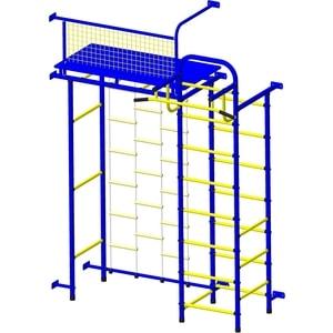 Детский спортивный комплекс Пионер 10ЛМ сине/жёлтый детский спортивный комплекс пионер морячок дуэт