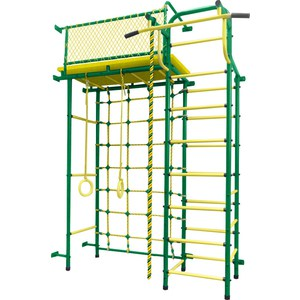 Детский спортивный комплекс Пионер 10С зелёно/жёлтый цена и фото