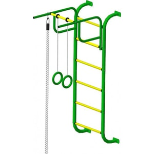 Детский спортивный комплекс Пионер 7 (2008) зелёно/жёлтый