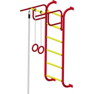 Детский спортивный комплекс Пионер 7 (2151) красно/жёлтый