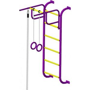 Детский спортивный комплекс Пионер 7М пурпурно/жёлтый детский спортивный комплекс пионер с4с пурпурно жёлтый