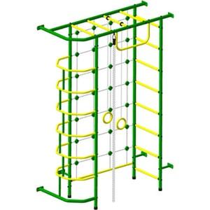 Детский спортивный комплекс Пионер 9 зелёно/жёлтый дск пионер с4см зелёно жёлтый