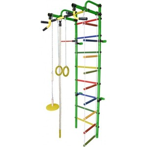 Детский спортивный комплекс Формула здоровья Лира-1К Плюс зелёный-радуга