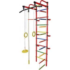 Детский спортивный комплекс Формула здоровья Лира-1К Плюс оранжевый-радуга