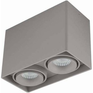 Потолочный светильник Donolux DL18611/02WW-SQ Silver Grey q028 bank card style zinc alloy couple key chain set silver grey