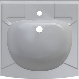 Раковина над стиральной машиной ALTASAN Kompakt с кронштейнами и сливной системой 50x50 см (UPP50)