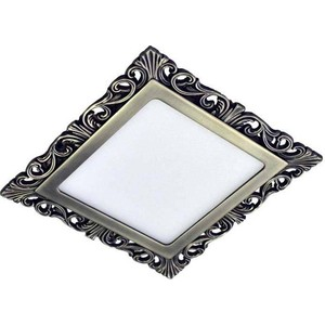 Точечный светильник Donolux DL18153/3000-Antique silver SQ nervilamp a27 antique silver