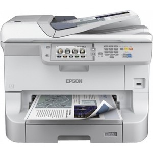 МФУ Epson WorkForce Pro WF-8590 DWF (C11CD45301) 1 piece t6710 maintenance waste ink tank box for epson workforce pro wp 4530 4540 4020 wf 4630 4640 5690 wf 5190 5620 5110