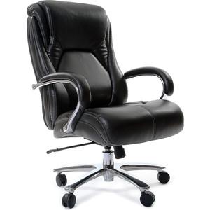 Офисное кресло Chairman 402, PU черное кресло карповое tramp chairman trf 031
