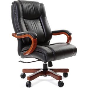 Офисное кресло Chairman 403 кожа + PU черное