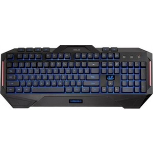 Игровая клавиатура Asus Cerberus black (90YH00R1-B2RA00) клавиатура asus strix tactic pro cherry mx black black usb 90yh0081 b2ra00