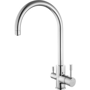 Смеситель для кухни IDDIS Kitchen F (KF20SBJi05) chrome finish brass kitchen sink faucet two spouts spring kitchen mixer tap 2 spouts kitchen water tap
