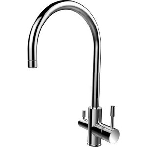 Смеситель для кухни IDDIS Kitchen F (KF10STJi05) chrome kitchen sink faucet solid brass spring two spouts deck mount kitchen mixer tap