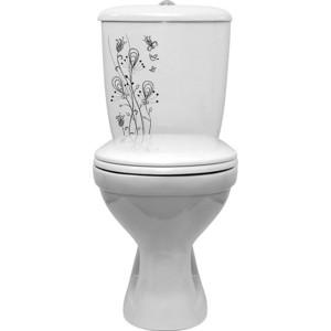 Унитаз Оскольская керамика Суперкомпакт декор цветы (31123 / 44901110202)