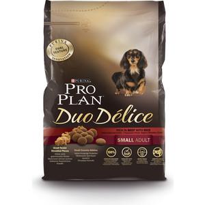 Сухой корм PRO PLAN Duo Delice Adult Small Rich in Beef with Rice с говядиной и рисом для собак мелких и карликовых пород 2,5кг (12251945)