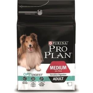 Сухой корм PRO PLAN OPTIDIGEST Sensitive Digestion Adult Medium с ягненком для собак средних пород с чувствительным пищеварением 1,5кг (12278110) корм для собак pro plan athletic для крупных пород курица сух 14кг