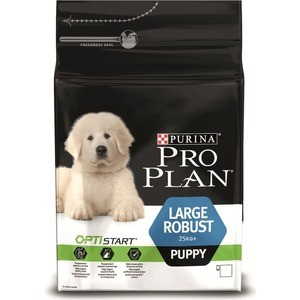 Сухой корм PRO PLAN OPTISTART Puppy Large Robust с курицей и рисом для щенков крупных пород мощного телосложения 3кг 12272200