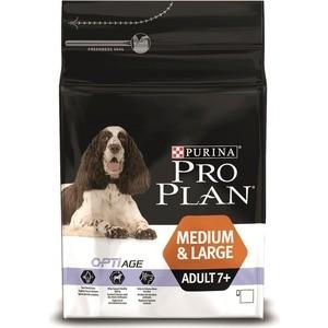 Сухой корм PRO PLAN OPTIAGE Adult 7+ Medium & Large с курицей и рисом для пожилых собак средних и крупных пород 14кг (12272557) корм для собак pro plan athletic для крупных пород курица сух 14кг