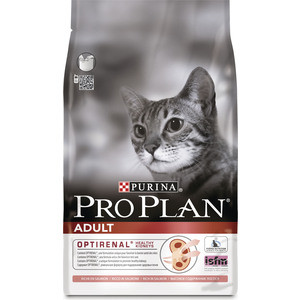 Сухой корм PRO PLAN OPTIRENAL Adult Cat Rich in Salmon с лососем для поддержания здоровья почек для кошек 10кг (12172132)