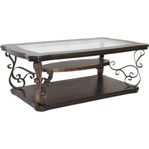 Стол журнальный Мебелик Лючия 2101 темно-коричневый/ прозрачное стол журнальный мебелик штурвал тёмно коричневый прозрачное